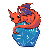 Baby Dragon Sticker For D&D Players