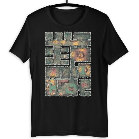 The Dungeon T-Shirt (Black) for RPG Tabletop players