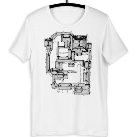 Samurai Castle Map Premium T-Shirt (White)