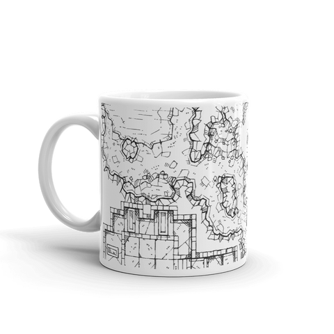 Forgotten Crypt Coffee Mug for D&D players