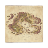 Arvyre Cartographic Map Pillow Case (No Filling)