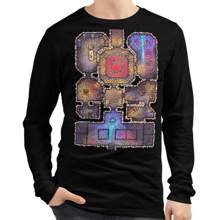Lair Unisex Premium Long Sleeve T-Shirt (Black) for RPG Tabletop players