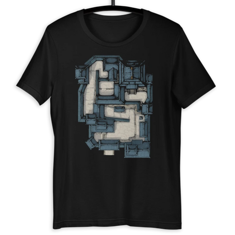 Samurai Castle Map T-Shirt (Black)