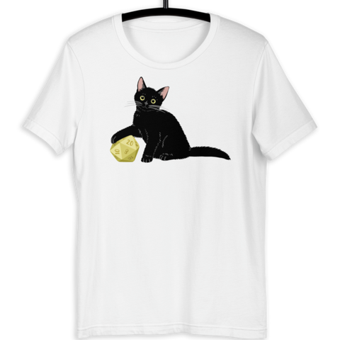 Black Cat T-Shirt For D&D Cat Lovers