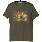 Arvyre Cartographic Map T-Shirt | Gift For D and D Player