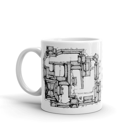 Samurai Castle Map Coffee Mug