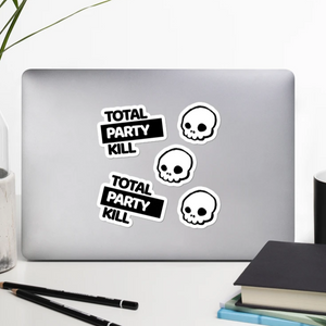 Total Party Kill (TPK) Stickers