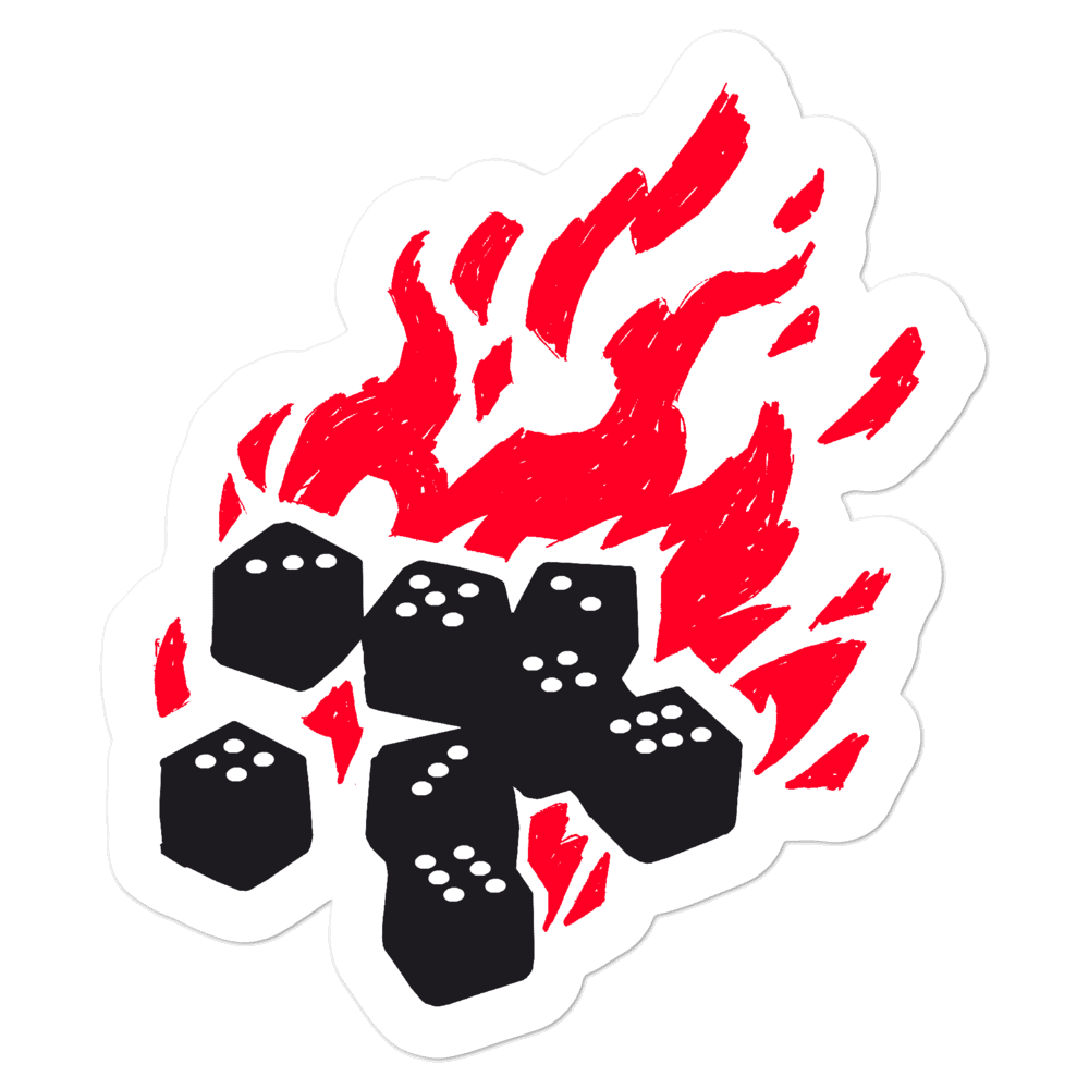 The Fireball Sticker for Dungeons and Dragons players