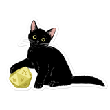 Black Cat Sticker For D&D Players