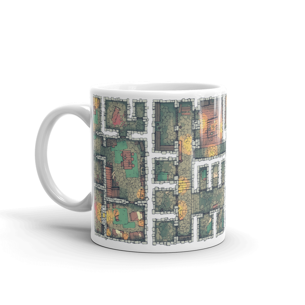 The Dungeon Coffee Mug for RPG Tabletop players