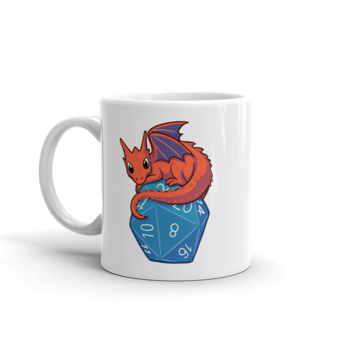 Baby Dragon Coffee Mug For D&D Players