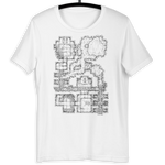 Forgotten Crypt T-Shirt (White) | D&D Player Gift