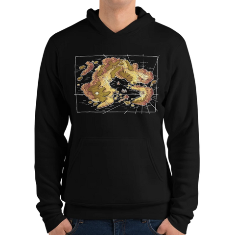 Arvyre Cartographic Map Hoodie | D&D Player Gift