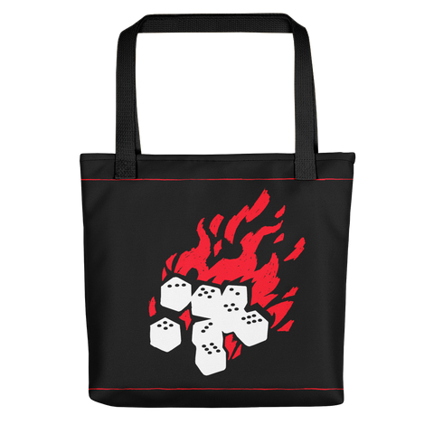 Fireball Tote Bag for Dungeons and Dragons players