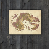 Arvyre Cartographic Map Canvas Wall Art: D&D Player Gift