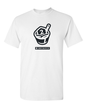 2-Minute Tabletop T-Shirt (Black on White)