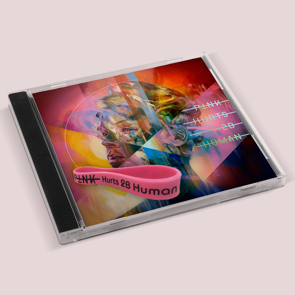 HURTS 2B HUMAN CD + WRISTBAND