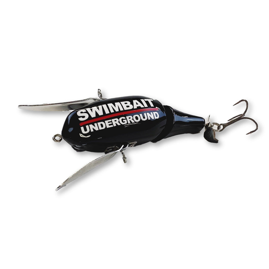 Swimbait Underground X Monka Lure Works FPJ Crawler - Black
