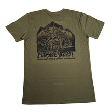Load image into Gallery viewer, Swimbait Underground X Working Class Zero Elusive Beast Tee - OD Green
