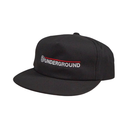 Swimbait Underground Wordmark Unstructured Snapback Hat - Black