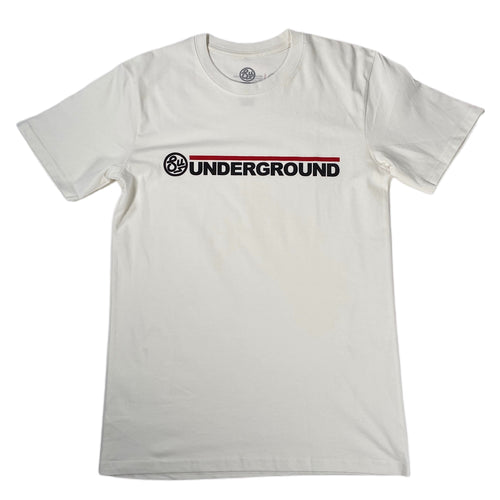 Swimbait Underground Wordmark Logo Tee - Natural