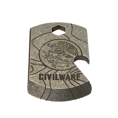 Swimbait Underground x Trophy Coat of Arms x Civilware Titanium Pry Bar/Bottle Opener