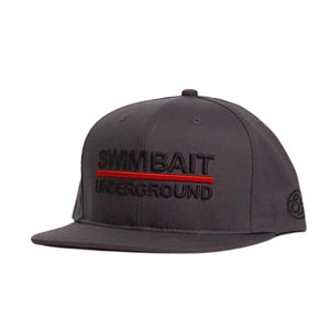 Swimbait Underground Logo Lock Up Hat - Dark Charcoal