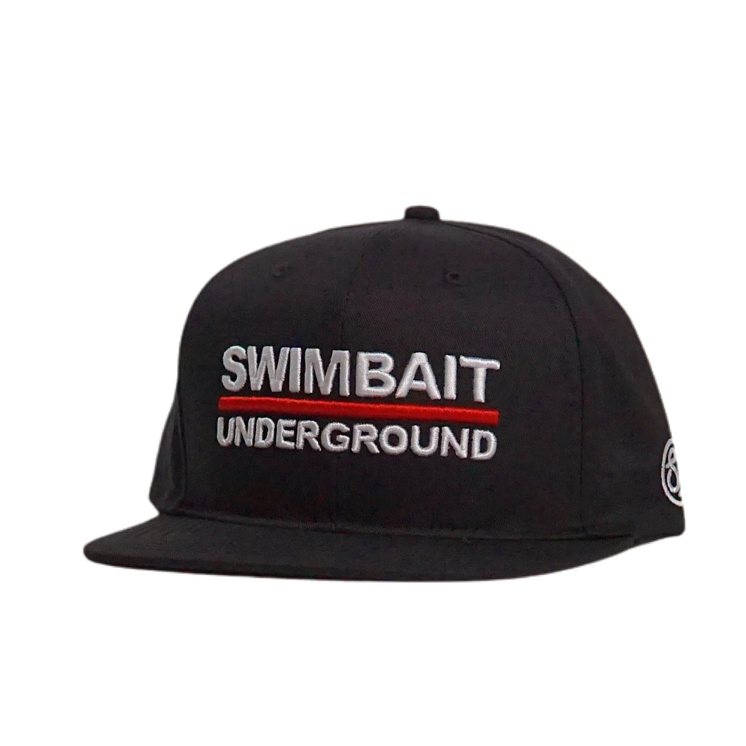 Swimbait Underground Logo Lock Up Hat - Black