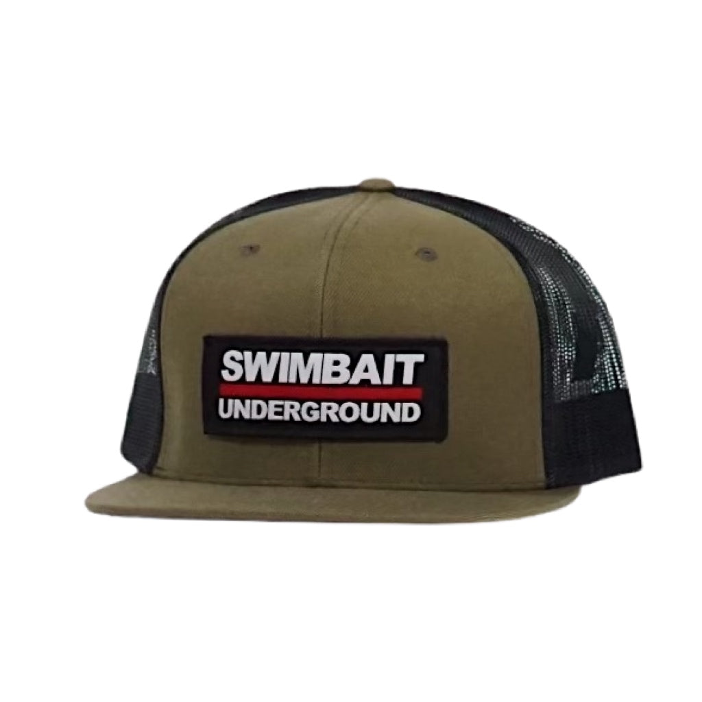 Swimbait Underground Logo Patch Mesh Hat - OD Green