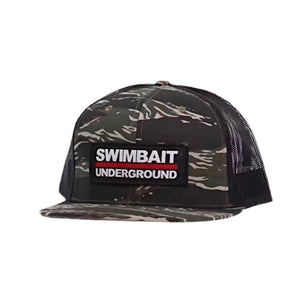 Swimbait Underground Logo Patch Mesh Hat - Tiger Camo
