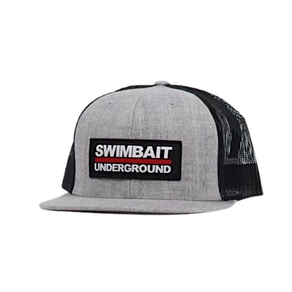 Swimbait Underground Logo Patch Mesh Hat - Heather Gray