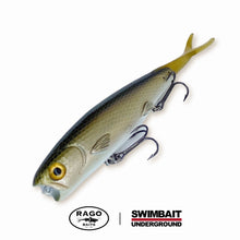 "Load image into Gallery viewer, Swimbait Underground X Rago Baits 8.5"" Poppa Walka - Dirt Bag - Swimbait Underground"