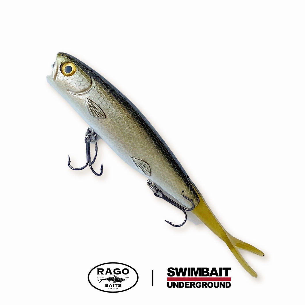 "Swimbait Underground X Rago Baits 8.5"" Poppa Walka - Dirt Bag - Swimbait Underground"