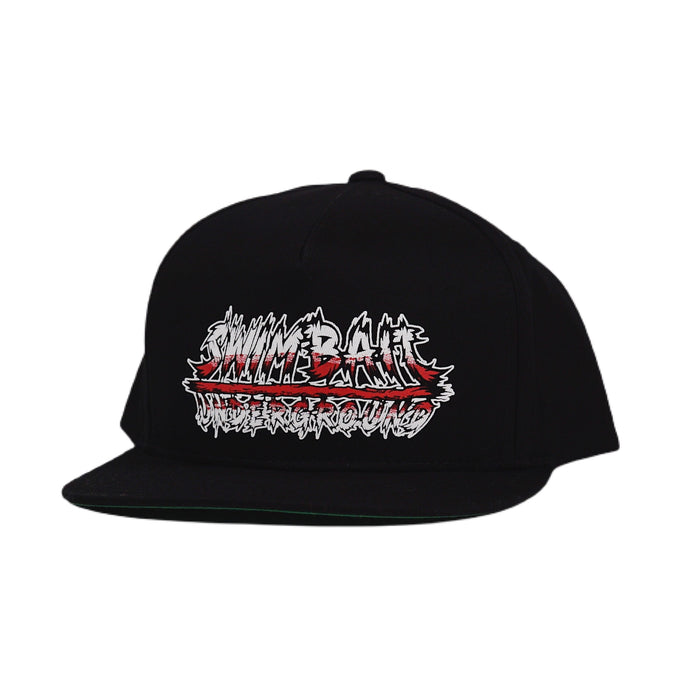 Swimbait Underground X David Paul Seymour Metal Logo 5 Panel Hat - Black