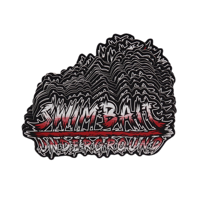 Swimbait Underground X David Paul Seymour Metal Logo Die Cut Sticker