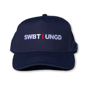 Swimbait Underground Initials 5 Panel Curved Snapback - Navy
