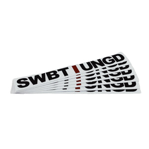 Swimbait Underground Unstacked Initials Sticker - White