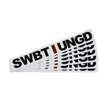 Load image into Gallery viewer, Swimbait Underground Unstacked Initials Sticker - White