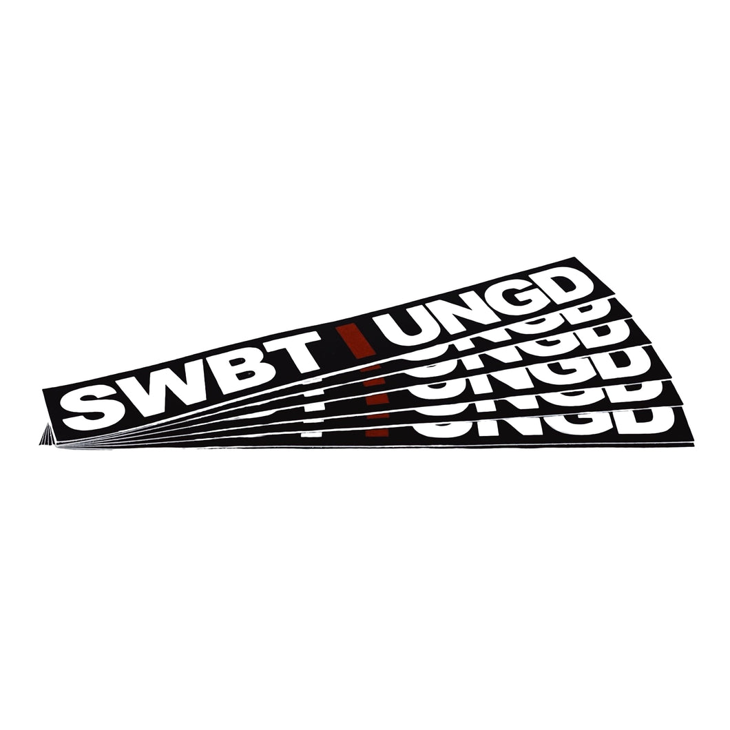 Swimbait Underground Unstacked Initials Sticker - Black