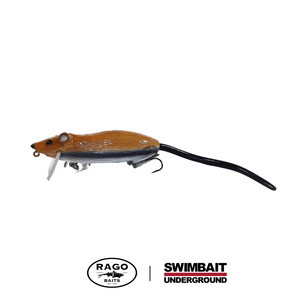 Swimbait Underground x Rago Baits Roach.2 - Brown