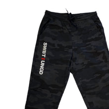 Load image into Gallery viewer, Swimbait Underground Initials Sweatpants - Black Camo