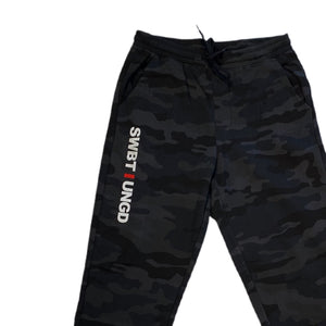 Swimbait Underground Initials Sweatpants - Black Camo