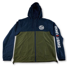 Load image into Gallery viewer, Swimbait Underground Circle SU Windbreaker - Navy/Olive