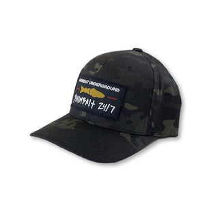 Swimbait Underground X Swimbait 24/7 FlexFit - Black Multicam
