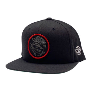 Swimbait Underground X Trophy Coat of Arms Snapback - Black