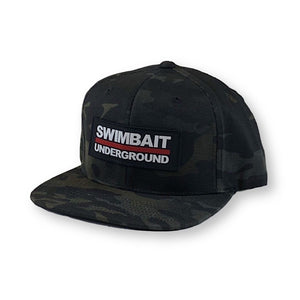 Swimbait Underground Logo Lock Up Patch Hat - Black Multicam