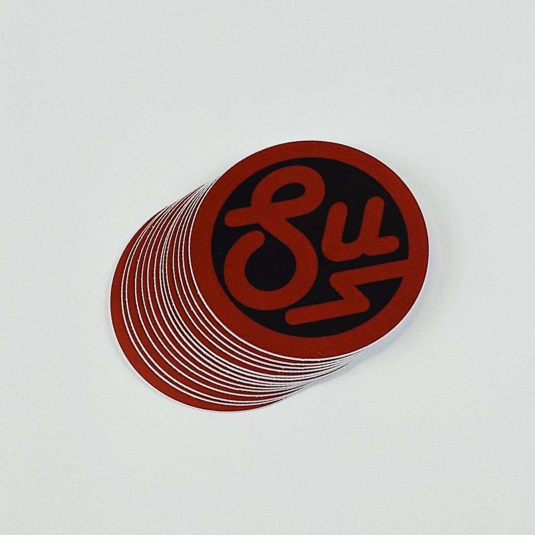 Swimbait Underground Circle SU Sticker - Red