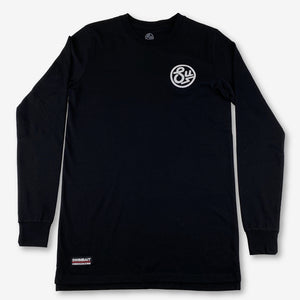 Swimbait Underground Circle SU Embroidered Long Sleeve Tee - Black