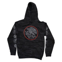 Load image into Gallery viewer, Swimbait Underground X Trophy Coat of Arms Hoodie - Black Camo
