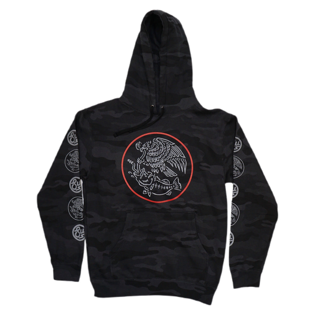 Swimbait Underground X Trophy Coat of Arms Hoodie - Black Camo